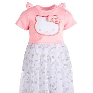 Hello Kitty Tooddler Girls Organza Popover Dress